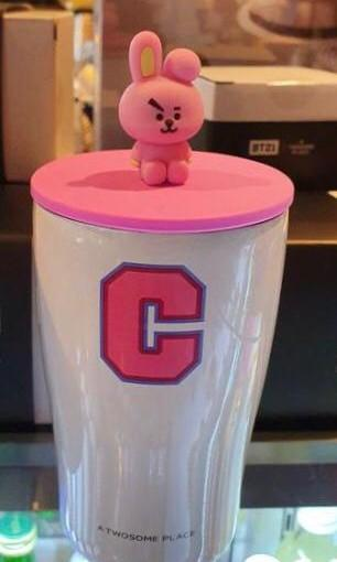 WTS BT21 COOKY FIGURE STAINLESS CUP