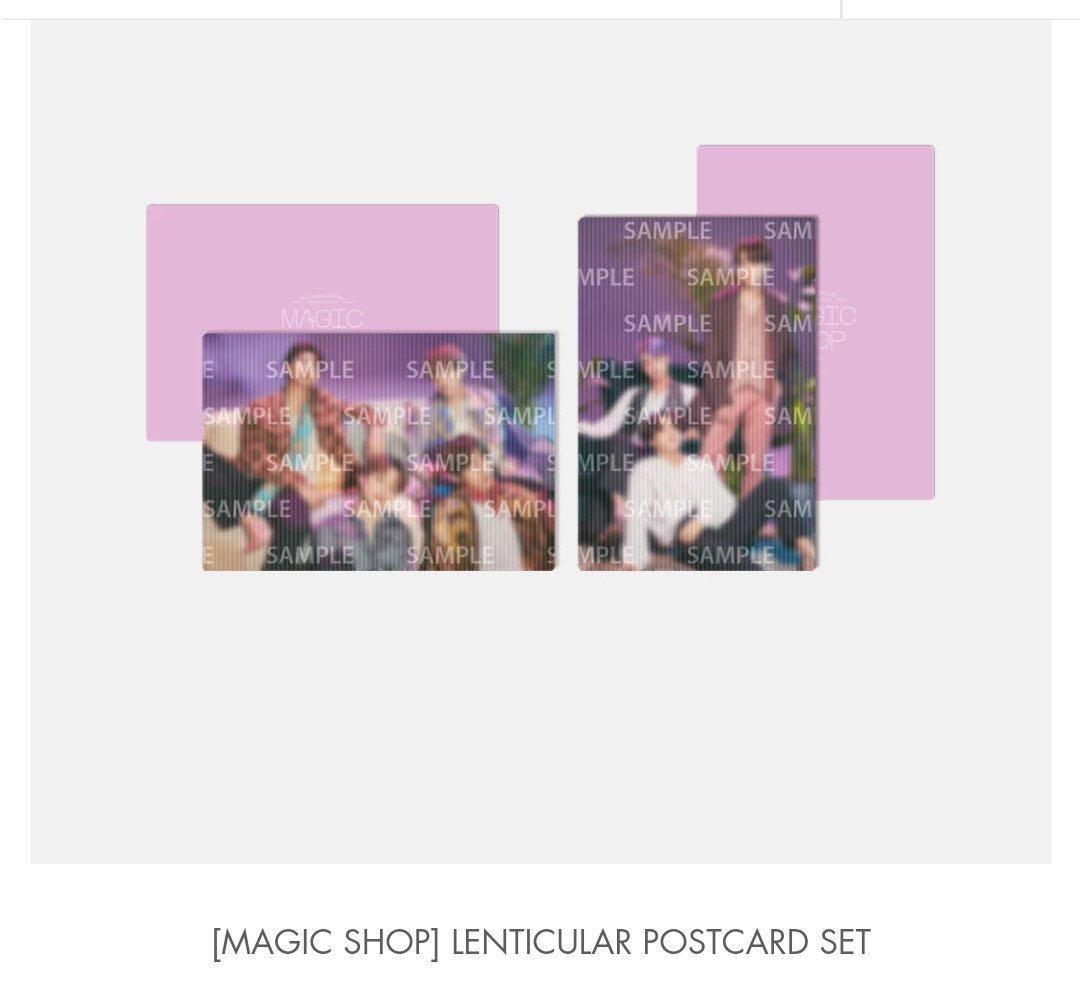 BTS Japan Muster Magic Shop MD - Lenticular postcard