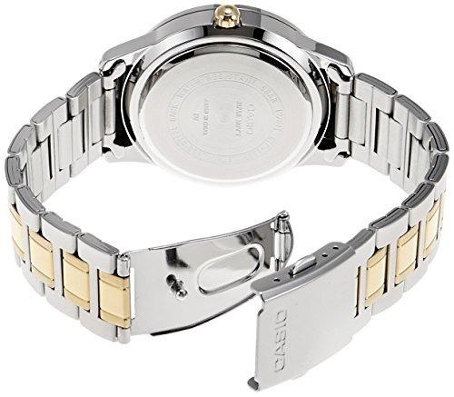 Casio LTP-1359SG-7A Women Fashion Analog Date Functioning Two-Tone Silver Gold Stainless Steel Strap Original Casual Watch LTP-1359SG
