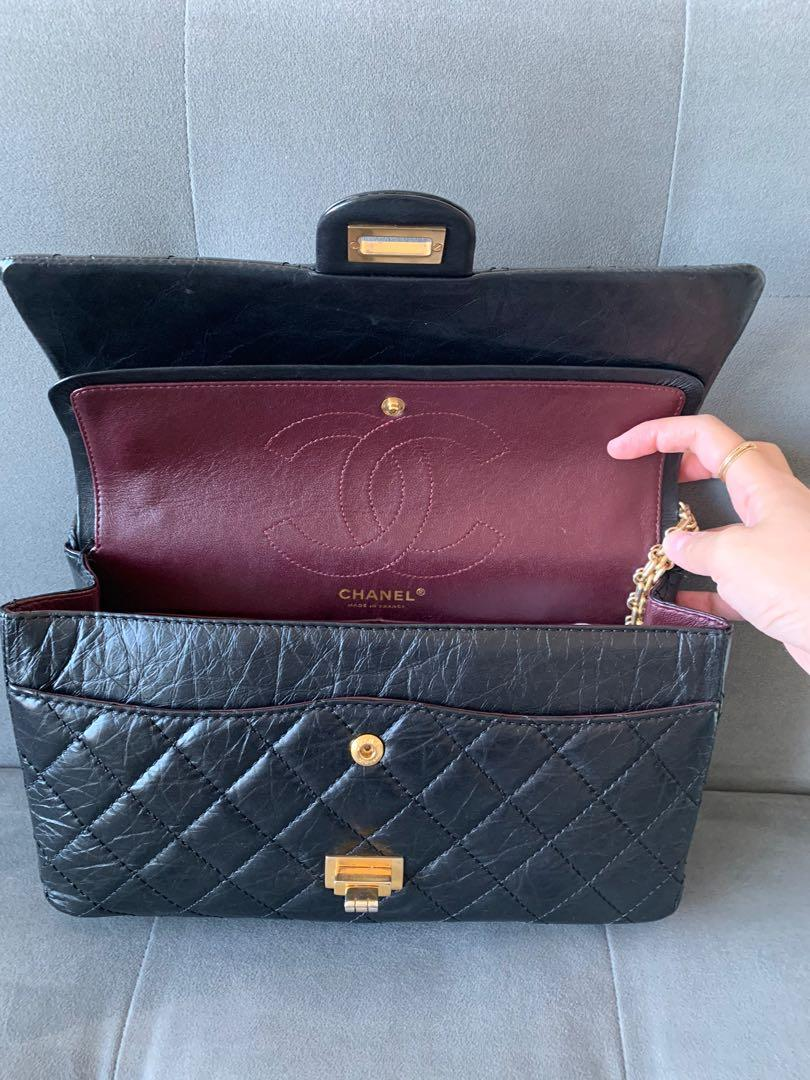 Chanel 2.55 Reissue Double Flap (size 226) - black aged calf leather