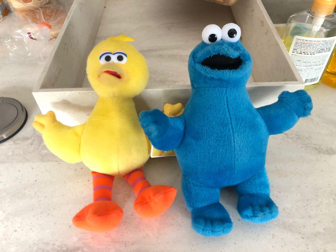 Cookie Monster and big bird plush toy