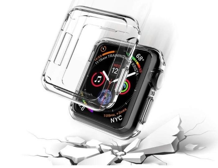 DON'T MISS!! Apple Watch Transparent Bumper Silicone Protector Cover for All Series and Sizes