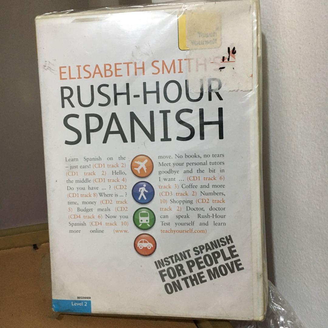 Elisabeth Smith Rush-Hour Spanish with Four Audio CDs: A Teach Yourself Guide (Teach Yourself Language)