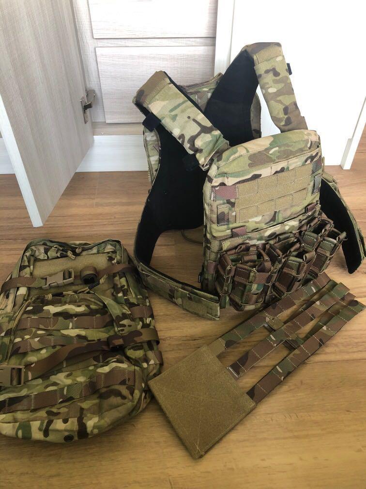 Emerson JPC plate carrier w/ Magazine pouch, cummerbund, assault backpack