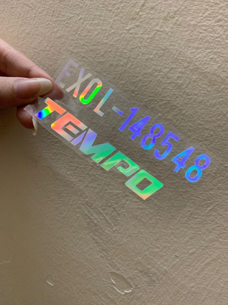 EXO Tempo Hologram Sticker