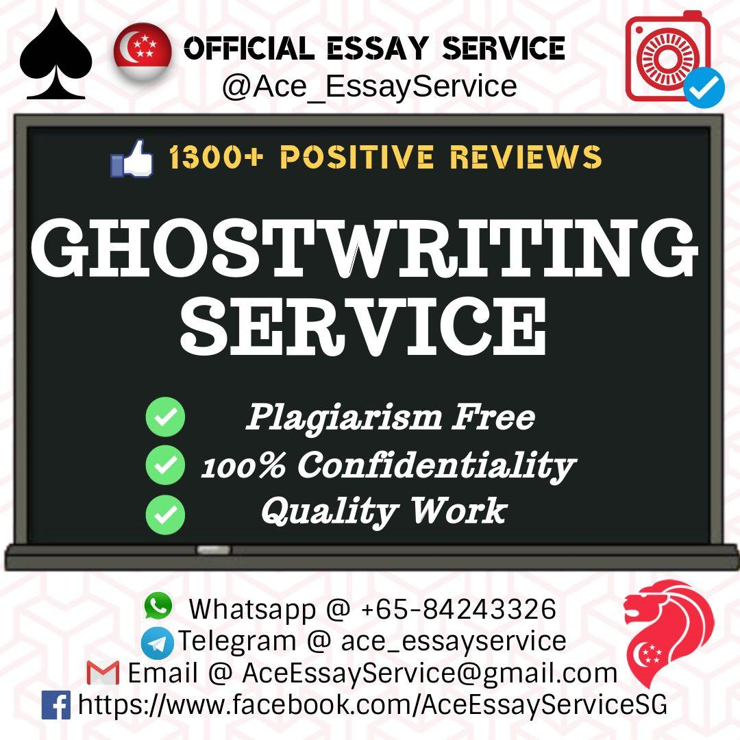 Ghostwriter 🇸🇬💯👨‍🎓👩‍🎓                               Essay Assignment