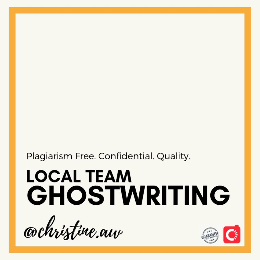 Ghostwriting SG Essay Assignment