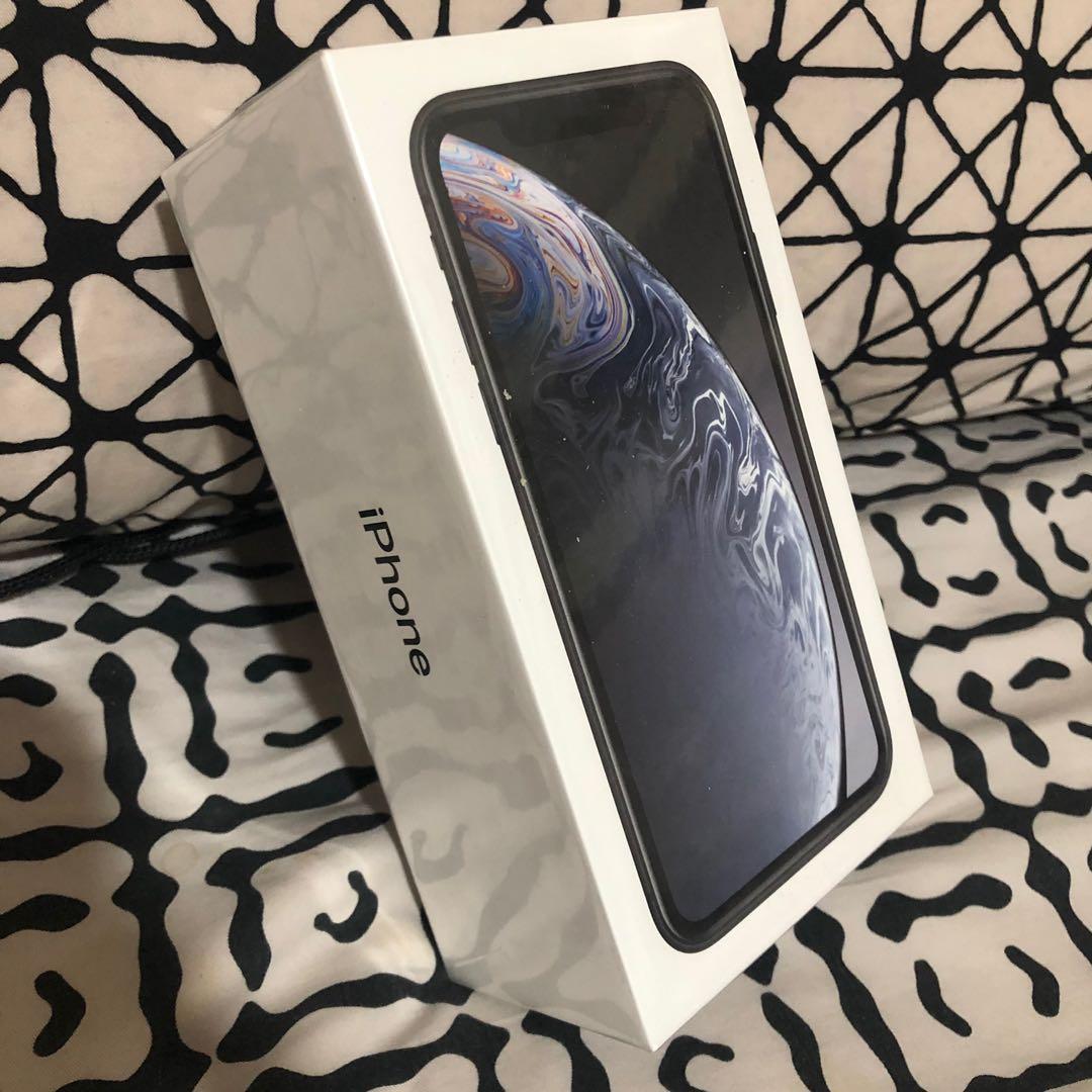 全新未開封Iphone XR 128GB black黑色