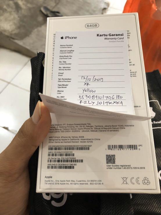 Iphone Xr 64gb Bnib Resmi Digimap Telepon Seluler Tablet Iphone Iphone X Series Di Carousell