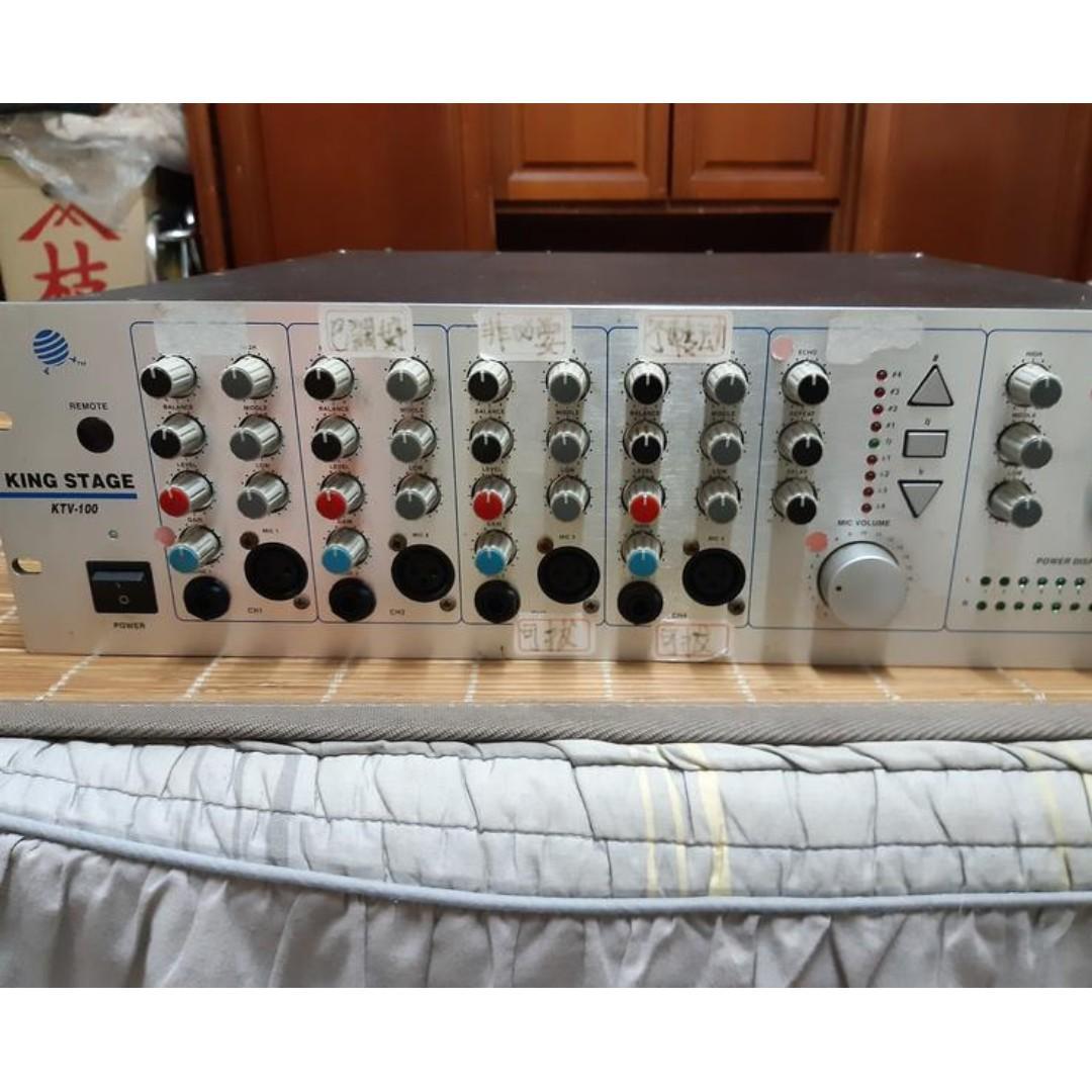 king stage ktv100 big power 1100w  karaoke amplifier 大瓦數卡拉ok 擴大機