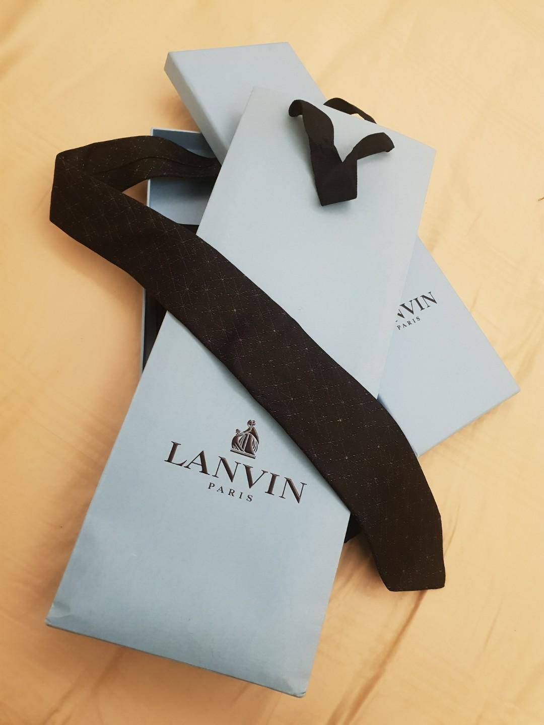 Lanvin men black tie 100% authentic