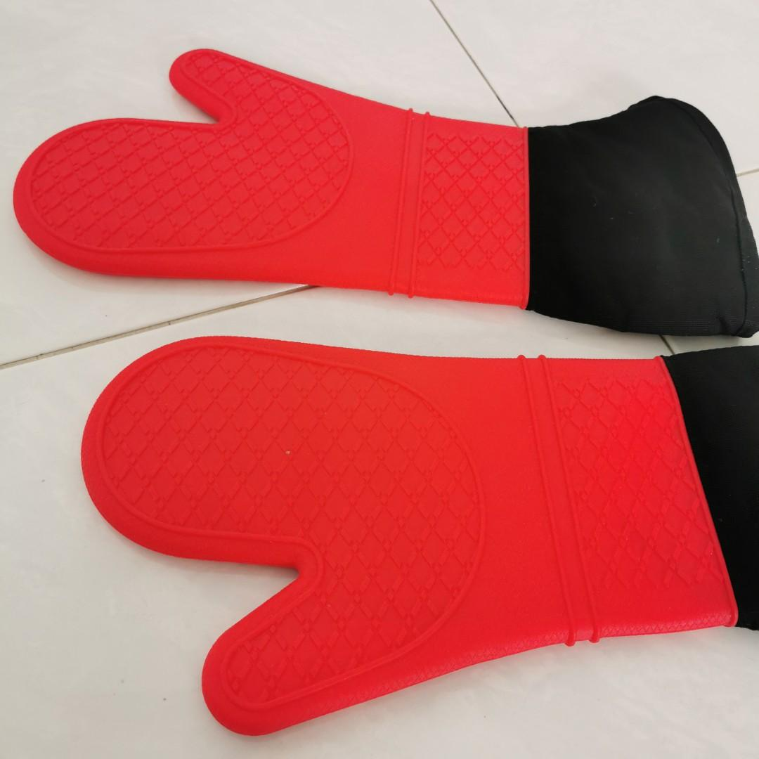 Long oven gloves