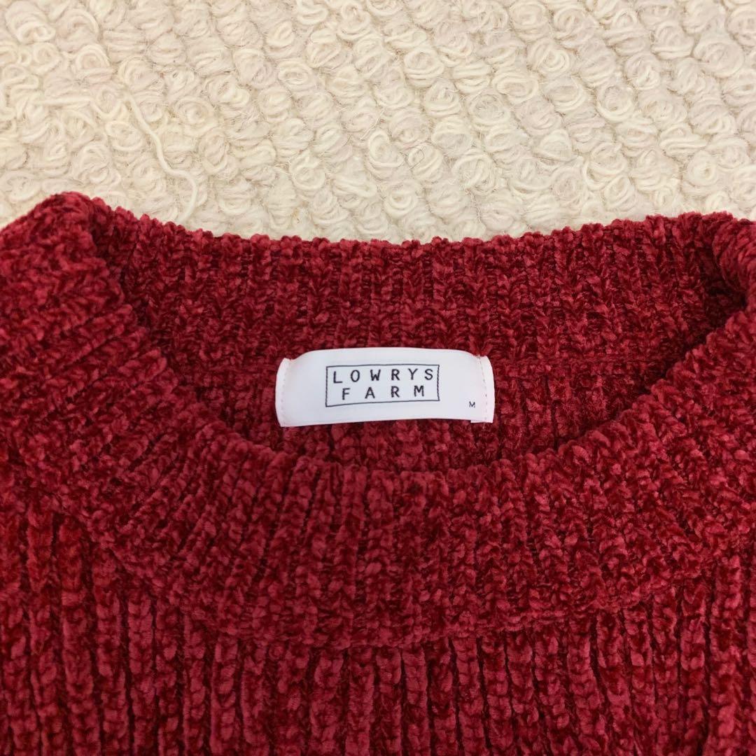 日牌LOWRYS FARM 落肩毛衣 日本專櫃購入