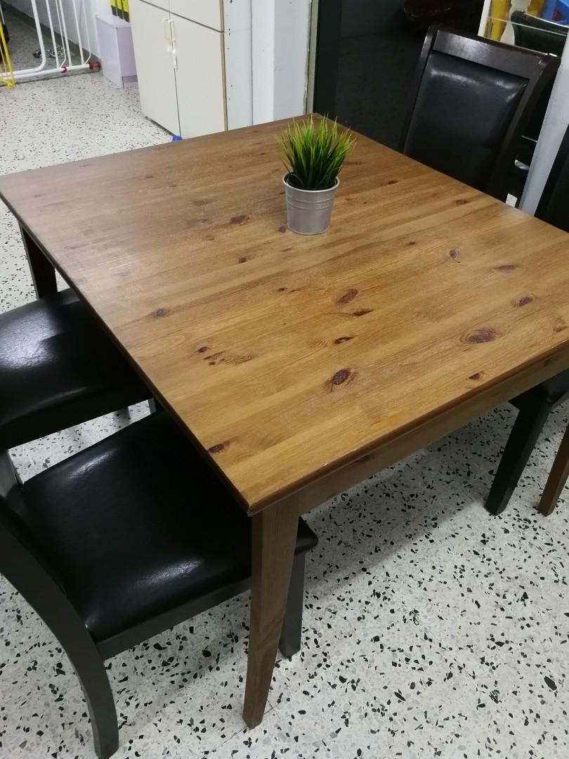 MODERN dining table with 4 SOLID WOOD CHAIR 😱😱