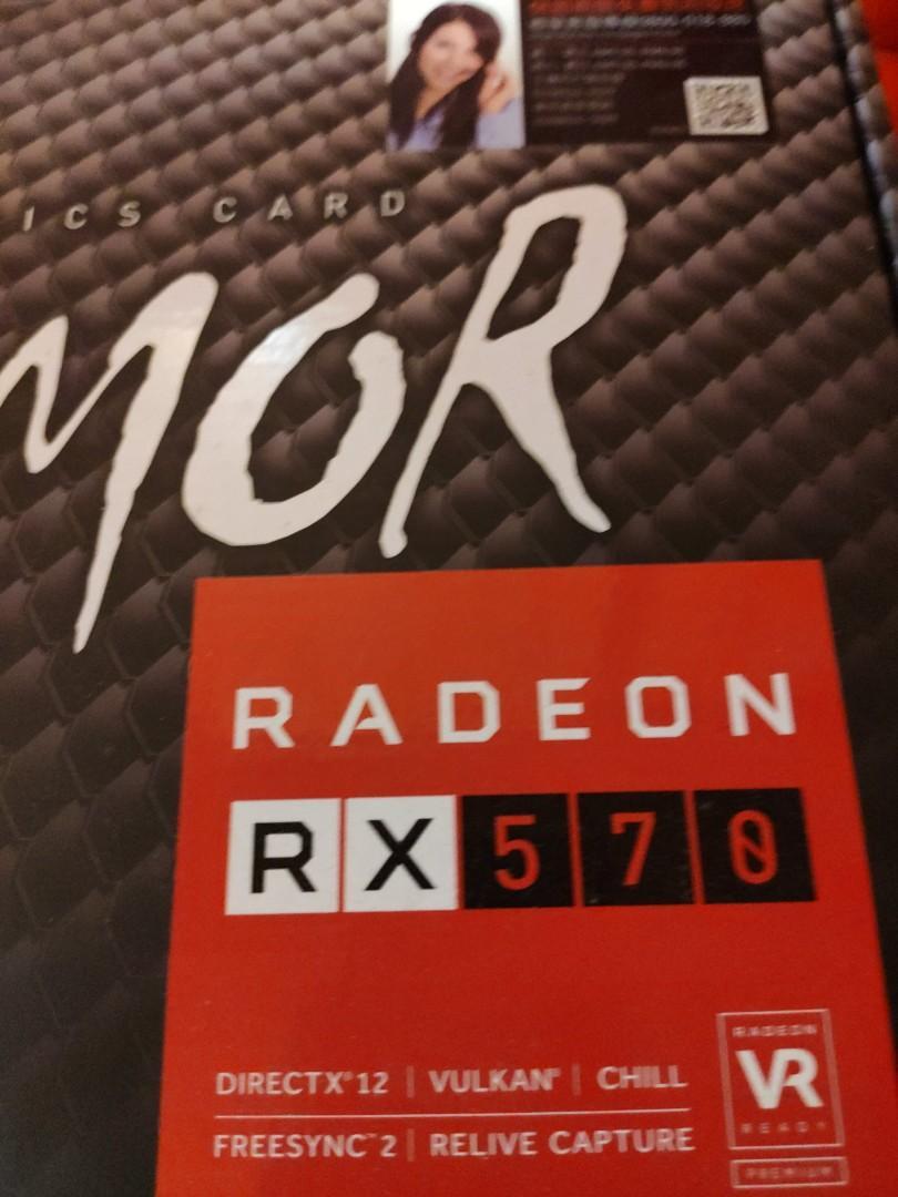 MSI RADEON ARMOR RX570 4G 顯示卡