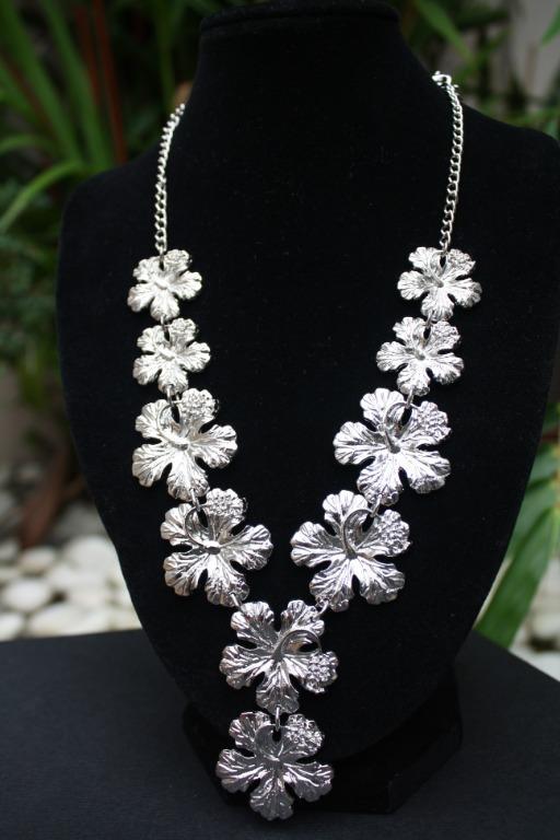 Necklace Pewter Bunga Raya