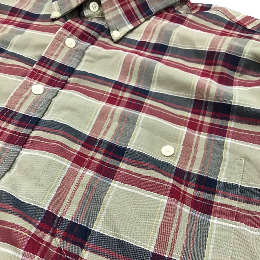NO.54- 復古格紋短袖襯衫