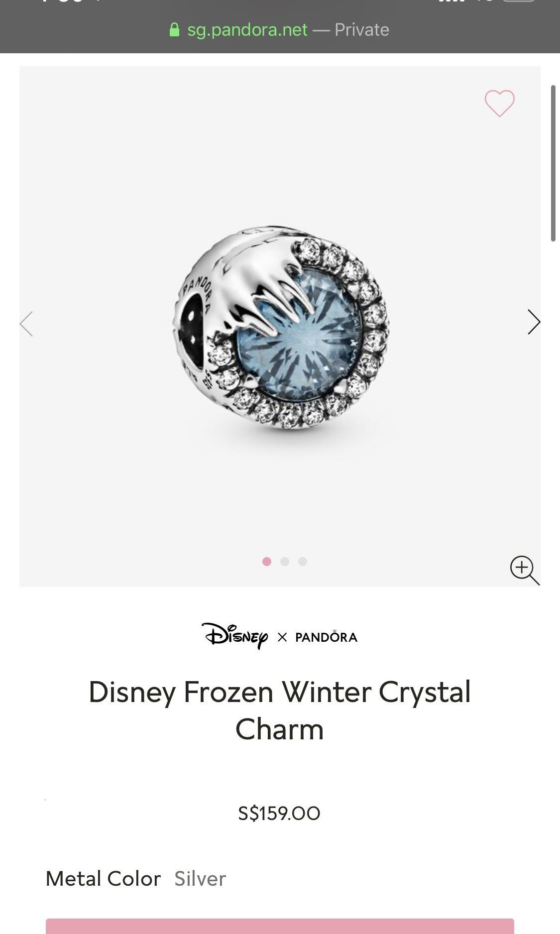 Pandora x Disney Frozen series charm