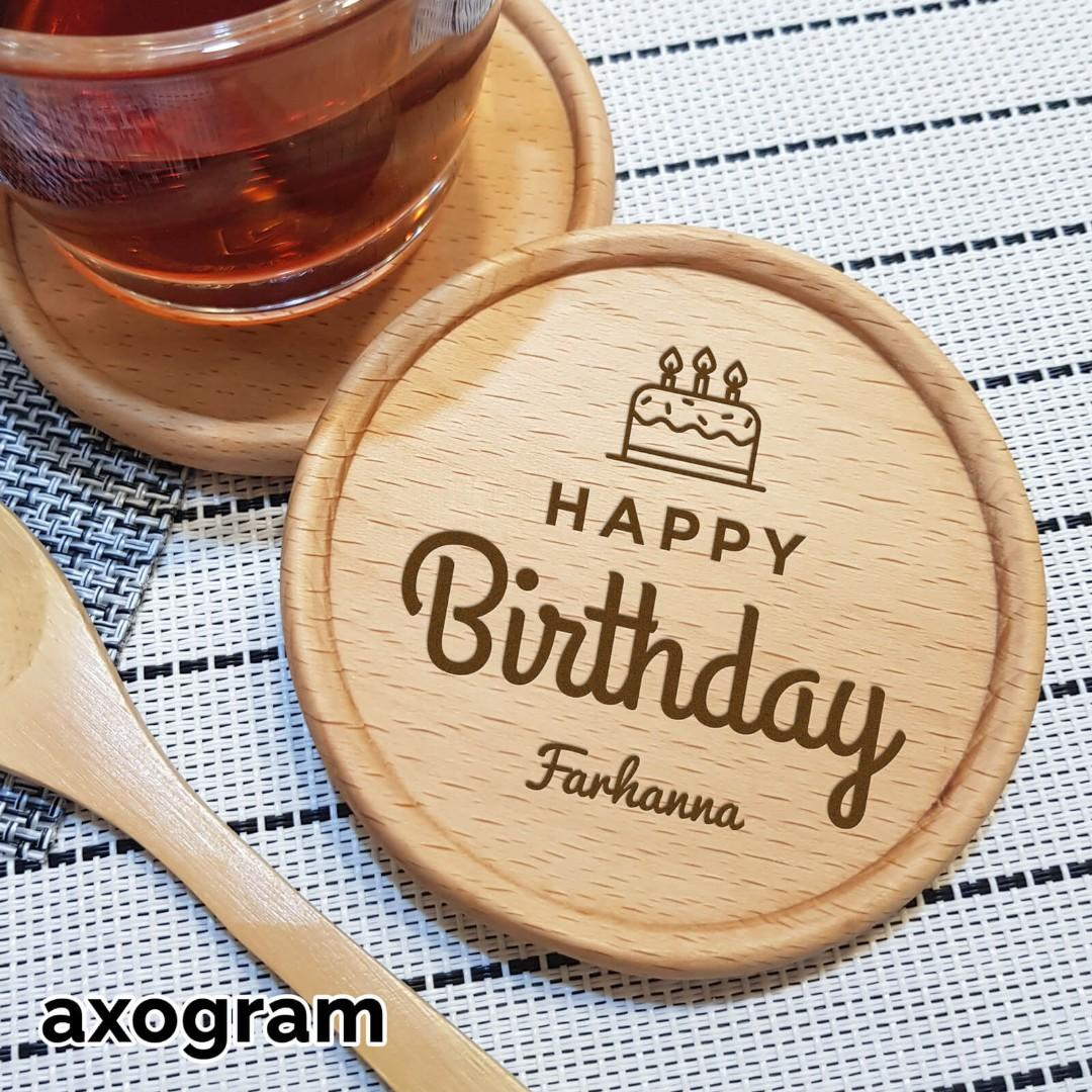 Personalized Birthday Coaster