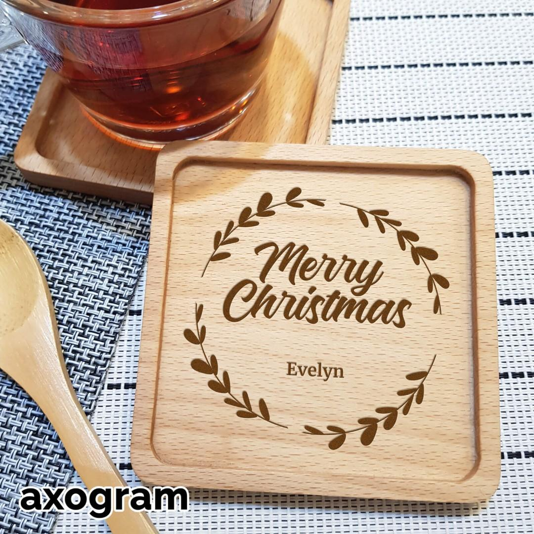 Personalized Christmas Festive Coaster