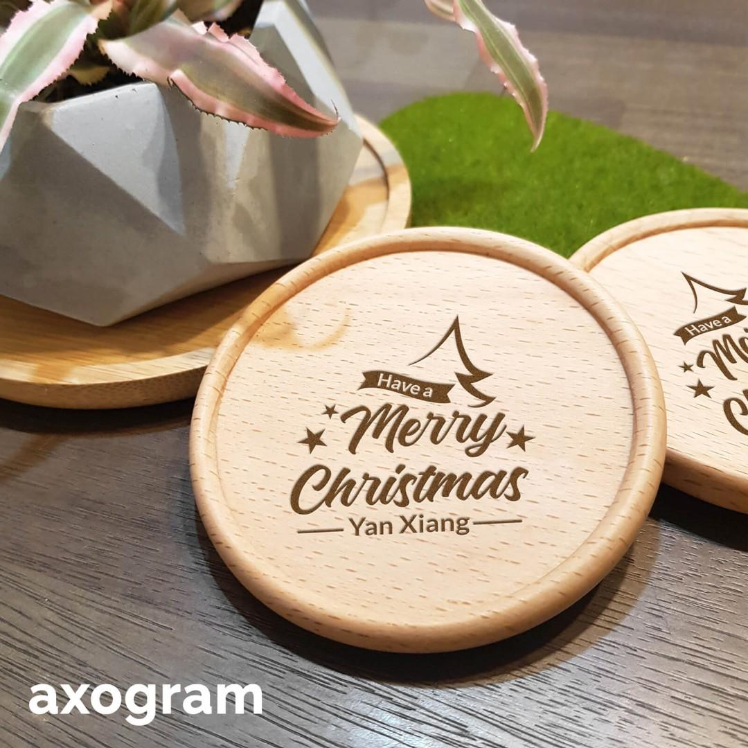 Personalized Christmas Coaster