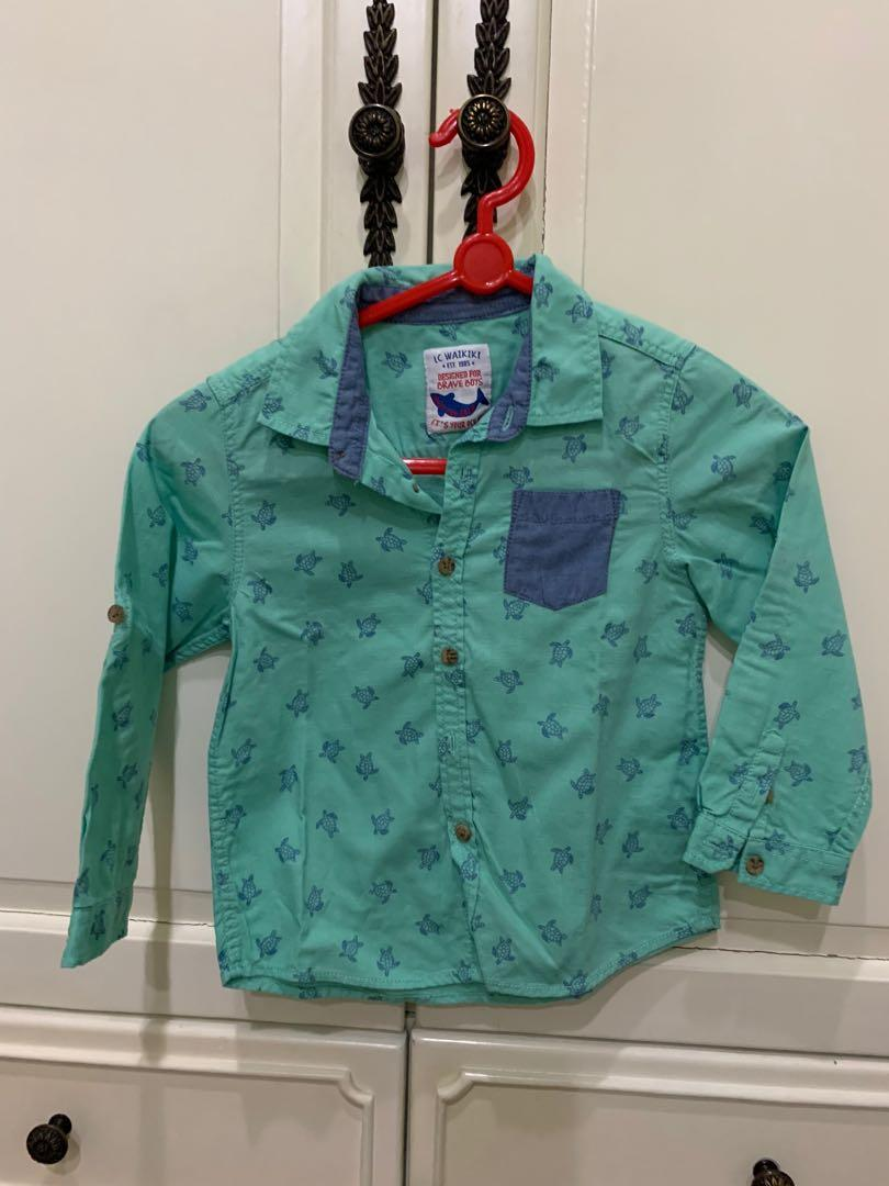 Preloved LC waikiki shirt for 2 years old ( 18-24 months )