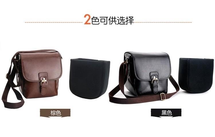 【Q夫妻】Camera Bag PU皮革 單反攝影包 相機包 單肩相機包 皮革單肩包 一機一鏡 棕色 #BA0009-2