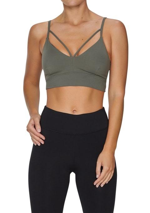 Rockwear Front Strap Low Impact Seamless Sports Bra - *BLUE/PURPLE* - Medium