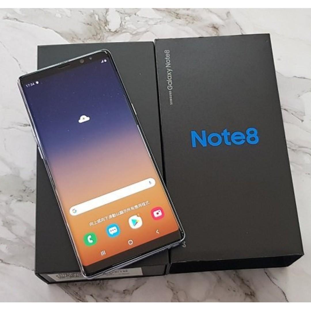 *典藏奇機*極新展示機-SAMSUNG三星 Note 8 雙卡雙待4G 6.3吋【6G+64G】防塵防水 紫