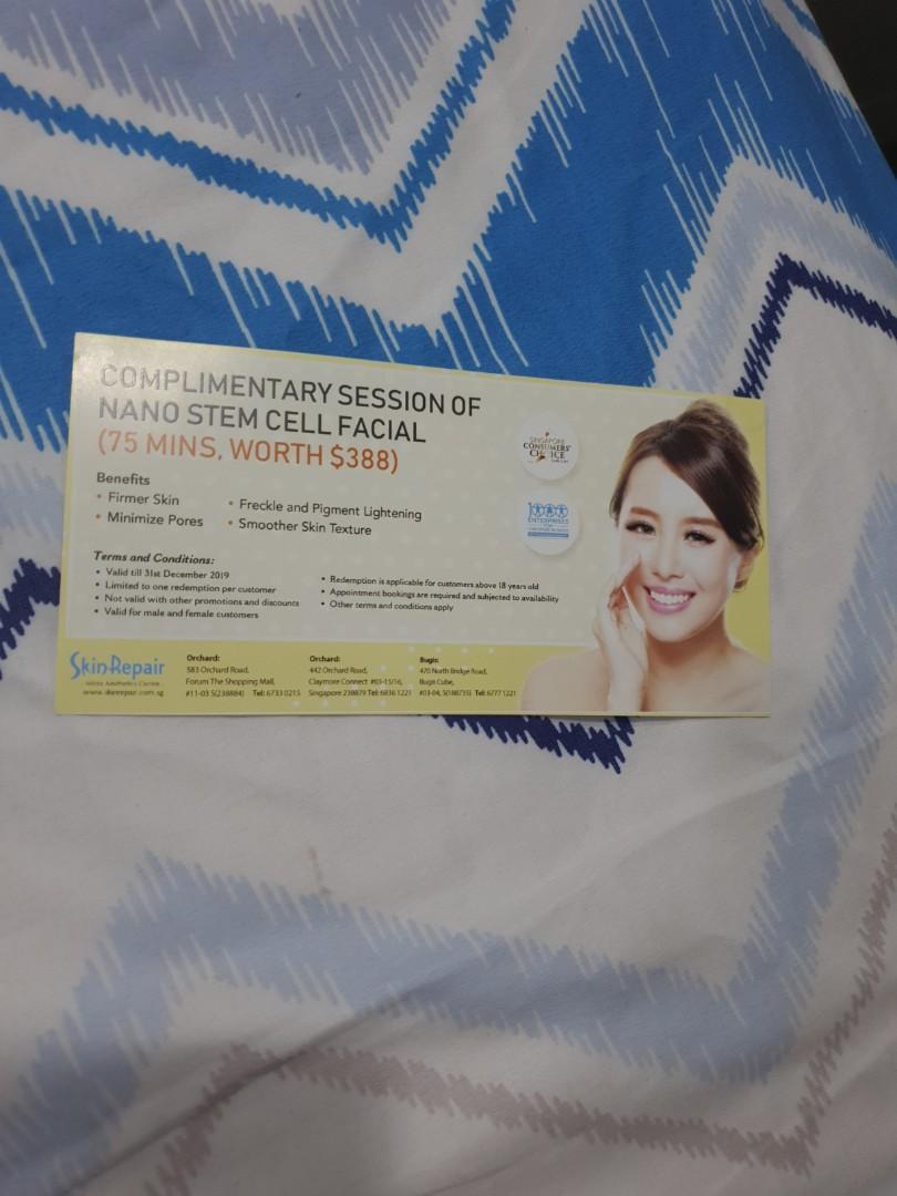 Skin repair voucher