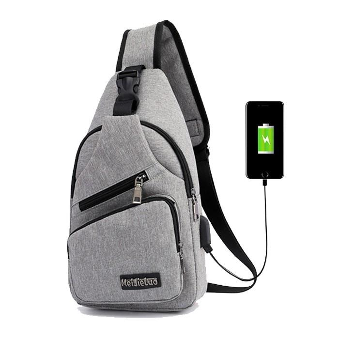 SKM Sports And Leisure USB Charging Messenger Bag SK 512 A