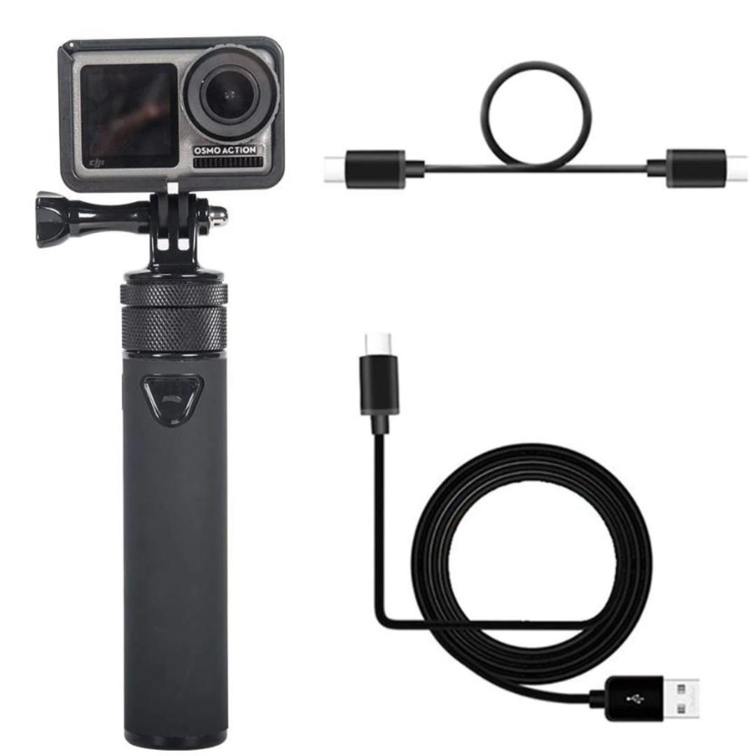 Smatree OA-2 Handheld Portable Charging Power Bank and Selfie Stick 2 in 1 Hand Grip for DJI OSMO Action Camera