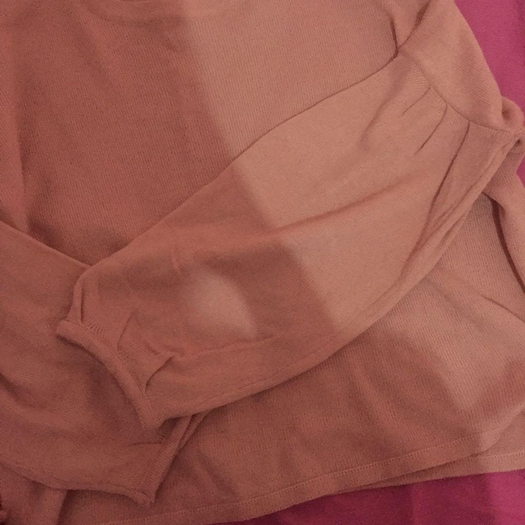 Sweater clo baloon hand dusty pink
