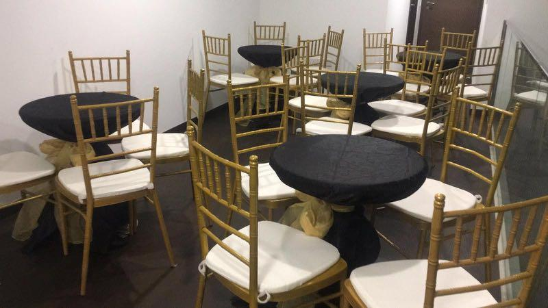 Tiffany chairs for wedding events