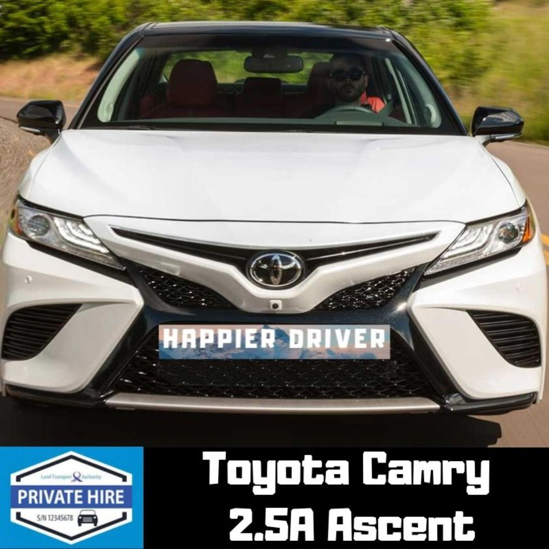 Toyota Camry Hybrid 2.5A Ascent for Rental Car Rental PHV Hybrid