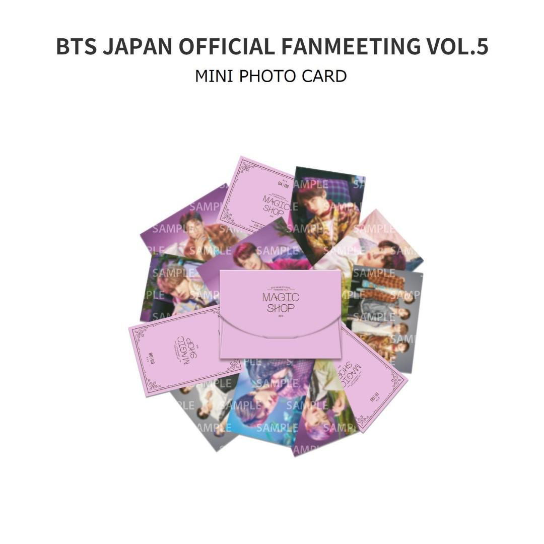 [WTS LOOSE] BTS 5TH MUSTER MAGIC SHOP FANMEETING IN JAPAN MINI PHOTOCARD