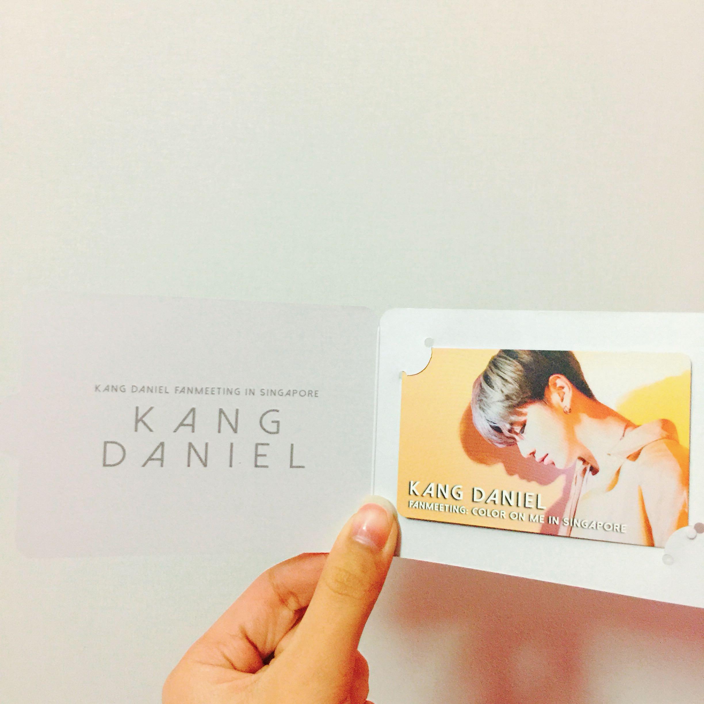 WTT Kang Daniel T&G Card