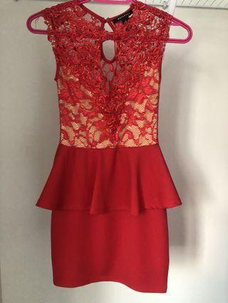 XS Red lace dress