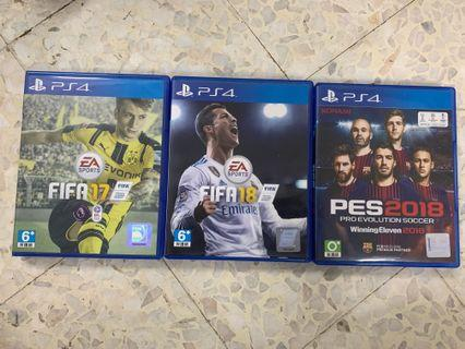 PS4 Used Games Fifa & PES