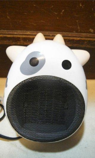 可愛乳牛電暖器 9成新