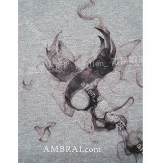 【AMBRAI.com】 REMIX SPIRIT LOGO TEE 15週年 煙燻 復刻 短袖 厚T 短T 素T 灰色