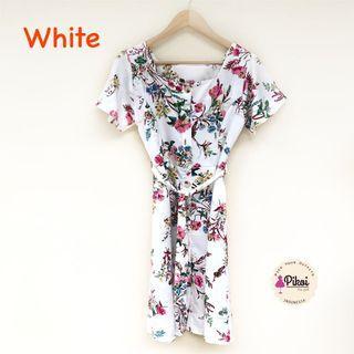 Floral Dress / Dress pantai / midi dress korea / summer dress / floral dress kimono / 2097
