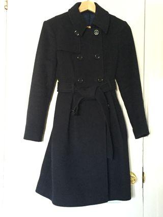 Cashmere  coat - Navy (fits size 0-2)