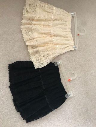 Womens lace skirts