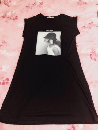扭結洋裝(黑色)