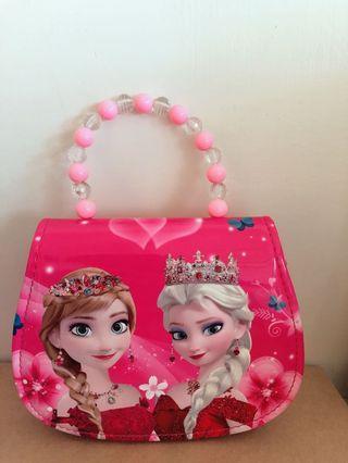 艾莎公主手提側背包包
