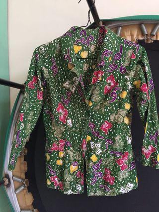#1010flazz Kemeja Kerja Batik - warna hijau