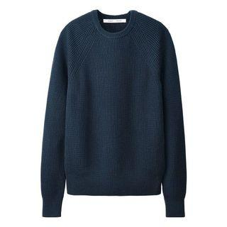 UNIQLO AND LEMAIRE 絕版 Supima Cotton 針織圓領毛衣(Navy)