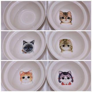 可愛貓咪 寵物用具 陶瓷高腳碗架 寵物碗架 貓咪碗架