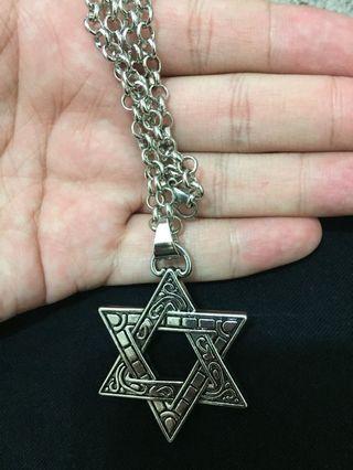 六角星🔯銀項鍊